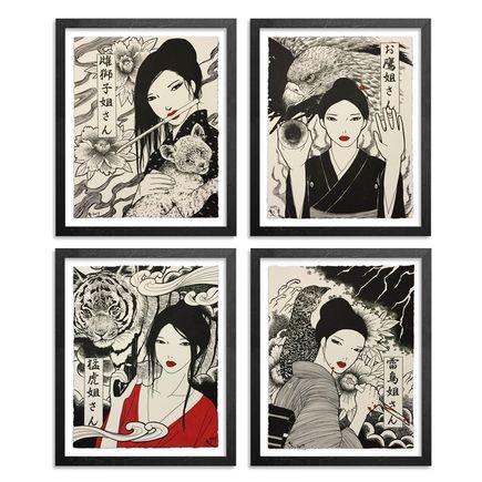 Yumiko Kayukawa Art Print - Sister Series - 4-Print Set