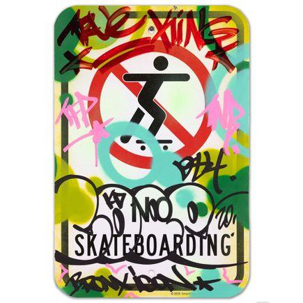 Cope2 Original Art - No Skateboarding - I - 12 x 18 Inches