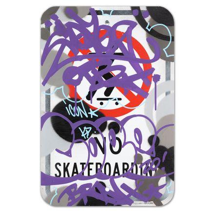Cope2 Original Art - No Skateboarding - X - 12 x 18 Inches