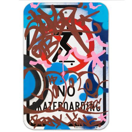 Cope2 Original Art - No Skateboarding - II - 12 x 18 Inches