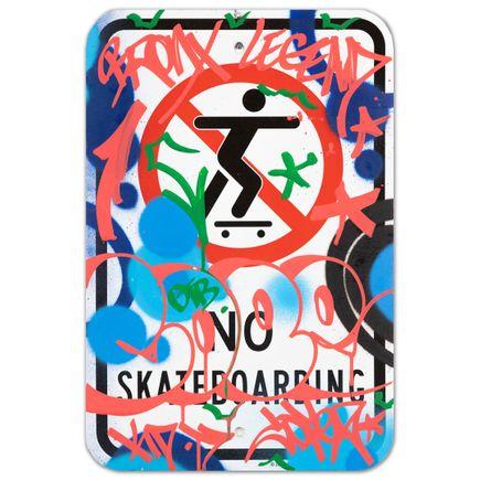 Cope2 Original Art - No Skateboarding - III - 12 x 18 Inches