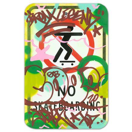 Cope2 Original Art - No Skateboarding - V - 12 x 18 Inches