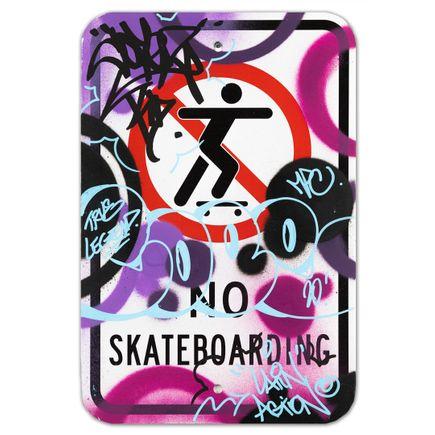 Cope2 Original Art - No Skateboarding - VI - 12 x 18 Inches
