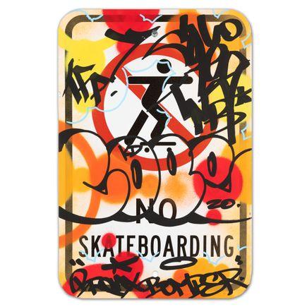 Cope2 Original Art - No Skateboarding - VII - 12 x 18 Inches