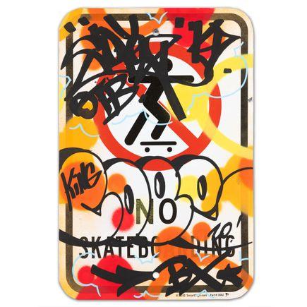 Cope2 Original Art - No Skateboarding - IX - 12 x 18 Inches