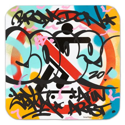 Cope2 Original Art - No Skateboarding Sign - I - 12 x 12 Inches