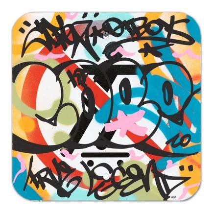 Cope2 Original Art -  No Skateboarding Sign - X - 12 x 12 Inches