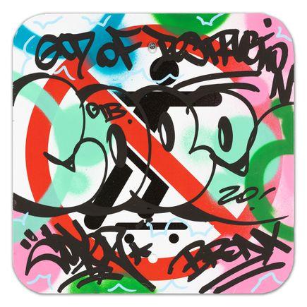 Cope2 Original Art - No Skateboarding Sign - II - 12 x 12 Inches