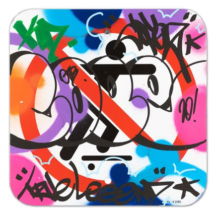 Cope2 Original Art - No Skateboarding Sign - III - 12 x 12 Inches