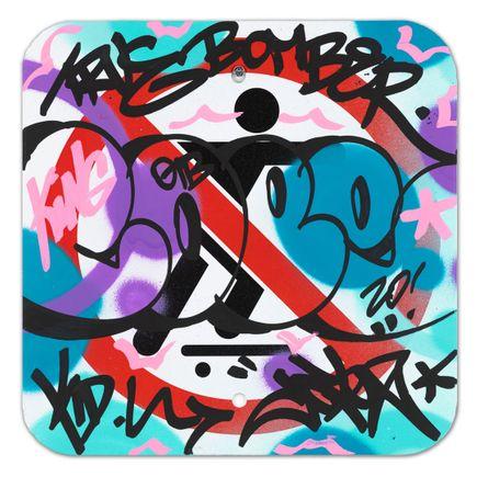 Cope2 Original Art - No Skateboarding Sign - IV - 12 x 12 Inches
