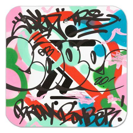 Cope2 Original Art - No Skateboarding Sign - V - 12 x 12 Inches