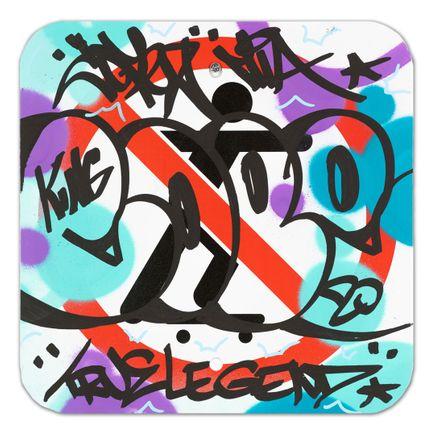 Cope2 Original Art - No Skateboarding Sign - VI - 12 x 12 Inches