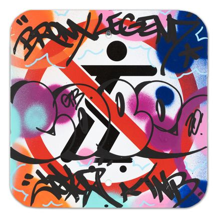 Cope2 Art - No Skateboarding Sign - VII - 12 x 12 Inches