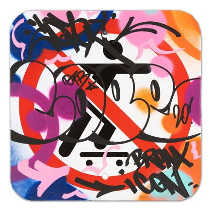 Cope2 Original Art - No Skateboarding Sign - VIII - 12 x 12 Inches