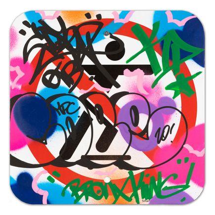 Cope2 Original Art - No Skateboarding Sign - IX - 12 x 12 Inches