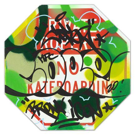 Cope2 Original Art - Private Property No Skateboarding Sign - VI - 12 x 12 Inches