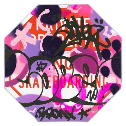 Cope2 Original Art - Private Property No Skateboarding Sign - IX - 12 x 12 Inches