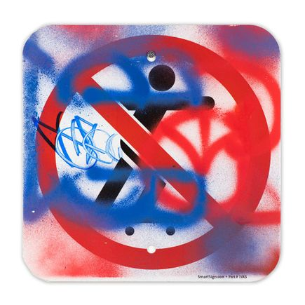 Hael Original Art - No Skateboarding Sign - XIII - 12 x 12 Inches