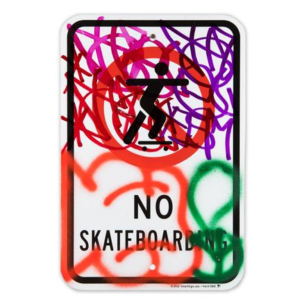 Hael Original Art - No Skateboarding - IV - 12 x 18 Inches