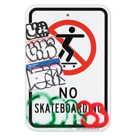 Hael Original Art - No Skateboarding - VII - 12 x 18 Inches