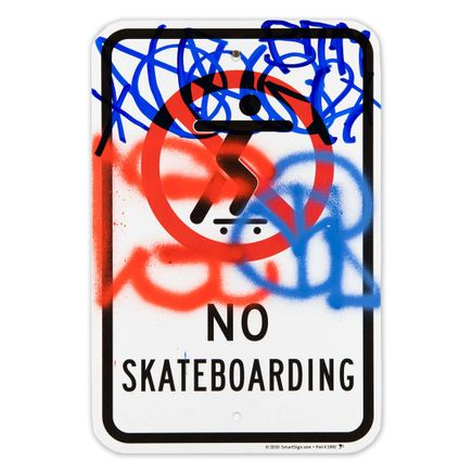 Hael Original Art - No Skateboarding - VIII - 12 x 18 Inches