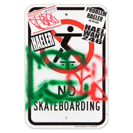 Hael Original Art - No Skateboarding - I - 12 x 18 Inches