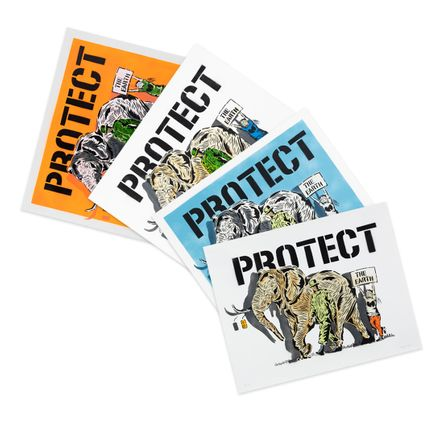 Praxis Art - Protect The Earth - 4-Print Set