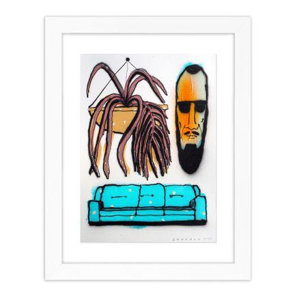 Tom Gerrard Original Art - Man, Plant & Couch