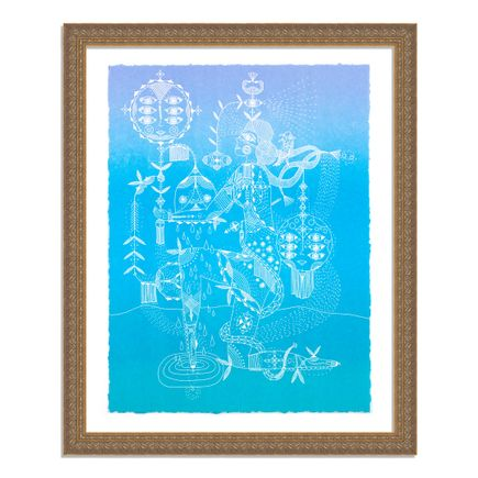 Bunnie Reiss Art Print - Nature's Cosmic Power - Periwinkle Edition
