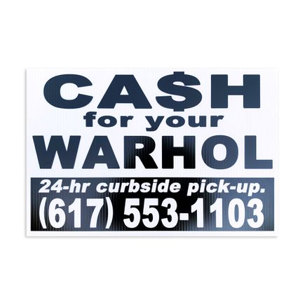 Cash For Your Warhol Art Print - 24-hr Curbside Pick-Up!