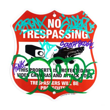 Cope2 Original Art - No Trespassing - Attack Dog - I