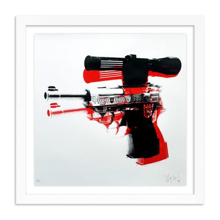 Copyright Art Print - Warhol Meets Megatron - White Edition
