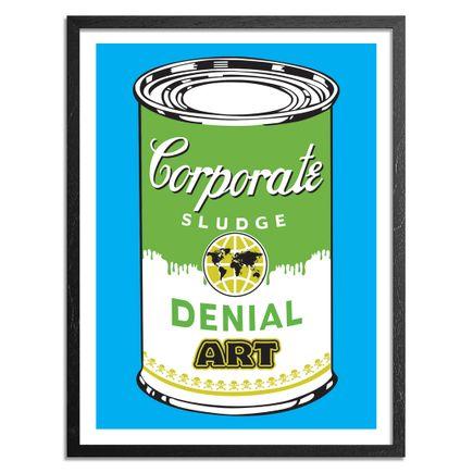 Denial Art Print - Corporate Sludge - Blue Edition
