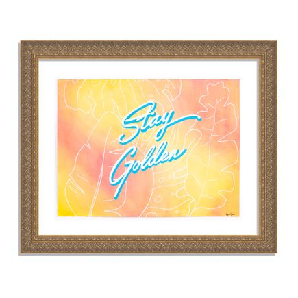 Diana Georgie Original Art - Stay Golden - Original Artwork