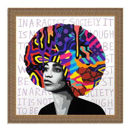 Dina Saadi Art Print - Angela - In a Racist Society... - I
