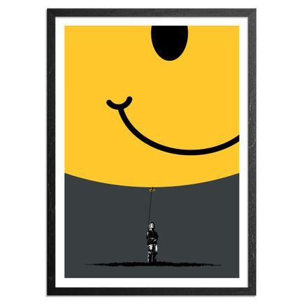 Eelus Art Print - 1 of 5 - Hand-Painted Smiley Balloon Edition - Hold On To What You Got