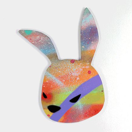 Luke Chueh Art - Rabbit Head - Hand-Painted Multiples