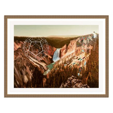 Mary Iverson Art Print - 1 of 20 - Yellowstone Falls - Hand-Embellished Edition