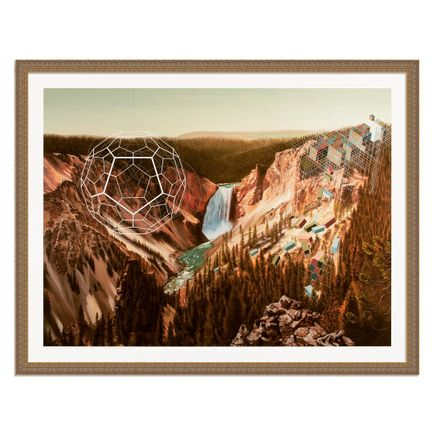 Mary Iverson Art Print - Yellowstone Falls - Hand-Embellished Unique Multiples