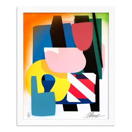 Maser Art Print - 1 of 15 - Stacked Forms 002 - Hand-Embellished Edition