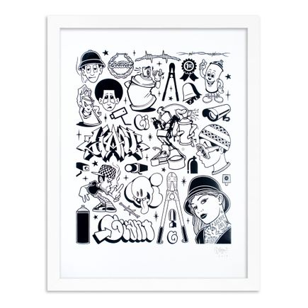 Mike Giant Art Print - Modern Hieroglyphics - Graffiti: Black Edition