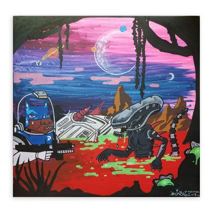 Noxer 907 Original Art - Original Artwork - Alien Nation