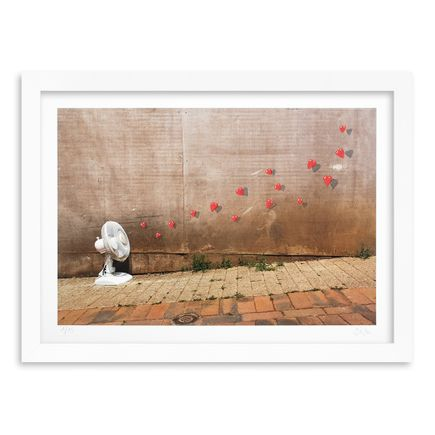 OakOak Art Print - 1 of 15 - Flying Hearts - Hand-Painted Multiple