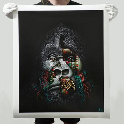 Sonny Art Print - Kunga - Hand-Embellished Prints