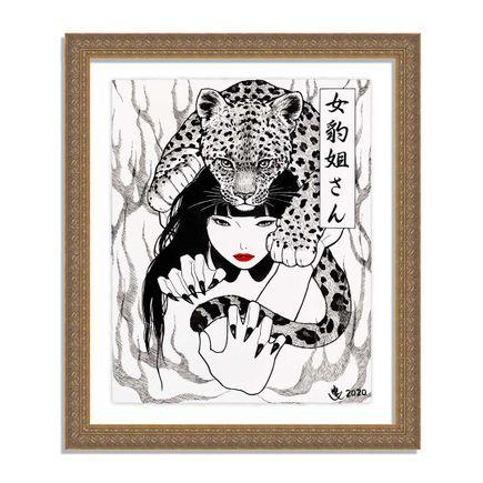 Yumiko Kayukawa Art Print - Sister Leopardess - Letter Press Edition