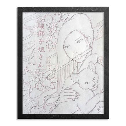 Yumiko Kayukawa Original Art - Original Sketch - Sister Lioness - Mejishi Neesan