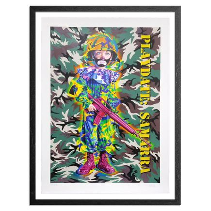 Ron English Art Print - Camo Tramp Boy - Hand-Painted Multiple