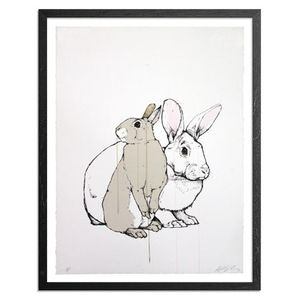 Sage Vaughn Art - Rabbits - Hand-Painted Multiple