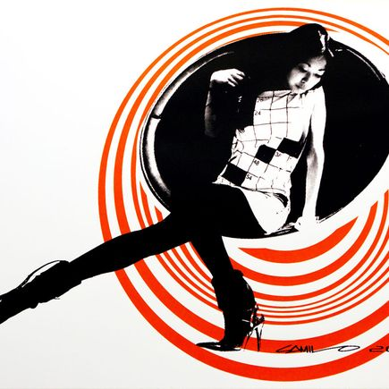 Camilo Pardo Art Print - Circle Girl - Orange Variant