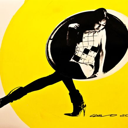 Camilo Pardo Art Print - Circle Girl - Yellow Variant